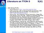 literature on ttcn 3 5 6