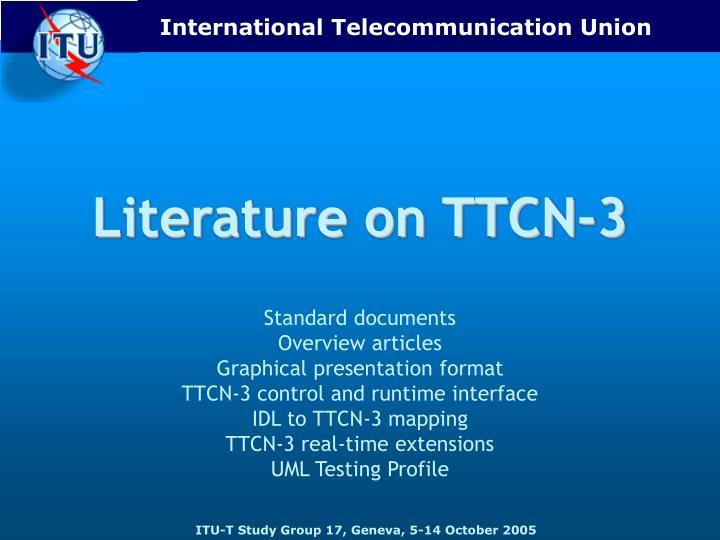 Literature on TTCN-3