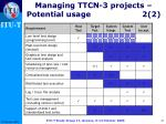 managing ttcn 3 projects potential usage 2 2