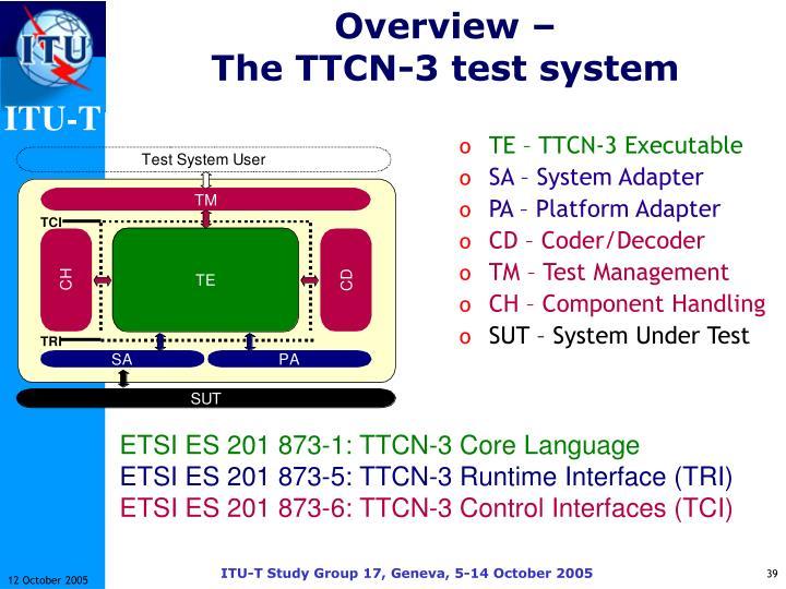TE – TTCN-3 Executable