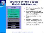 structure of ttcn 3 specs module definitions part