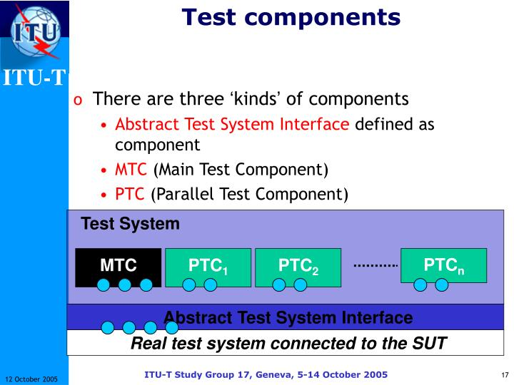 Test components
