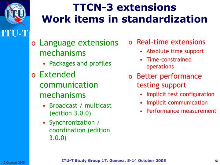 Language extensions mechanisms