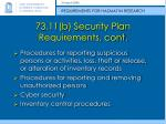73 11 b security plan requirements cont