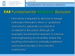 ear fundamental research exclusion