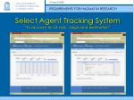 select agent tracking system to account for all vials origin and destination