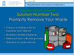 storage without a permit solution number two promptly remove your waste