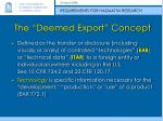 the deemed export concept