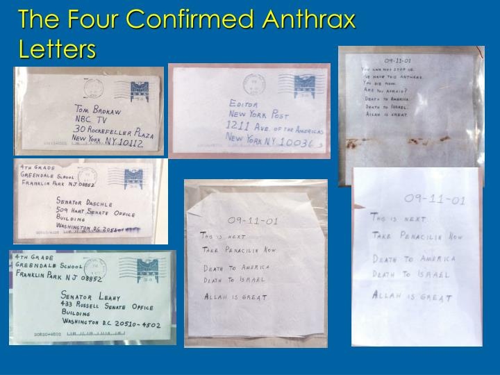 The Four Confirmed Anthrax Letters