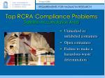 top rcra compliance problems satellite accumulation area