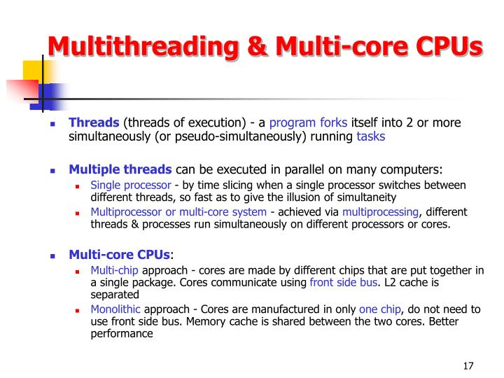 Multithreading & Multi-core CPUs