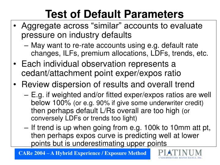 Test of Default Parameters