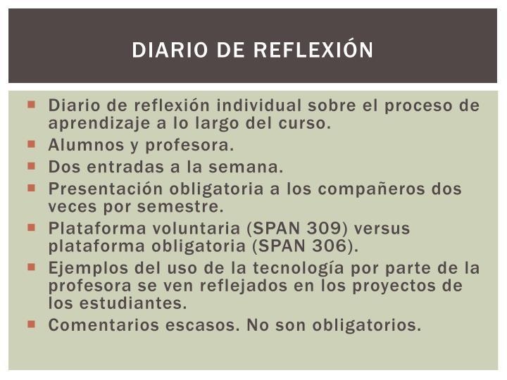 Diario de reflexión