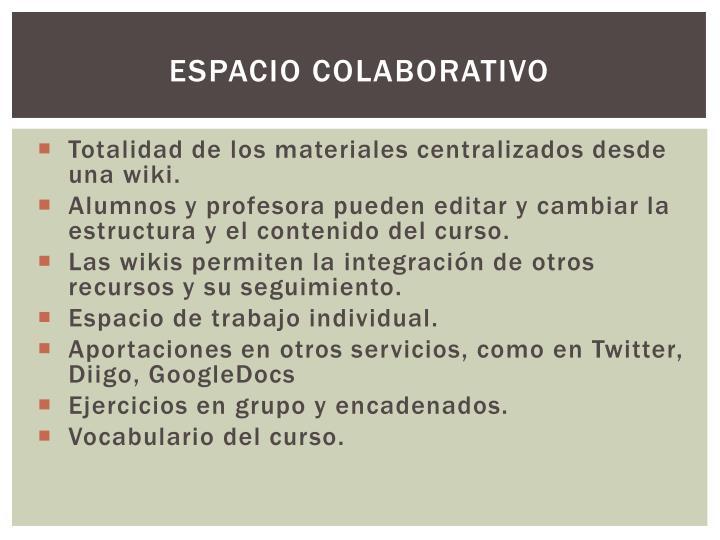 Espacio colaborativo