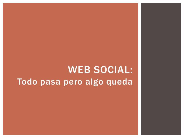 Web Social: