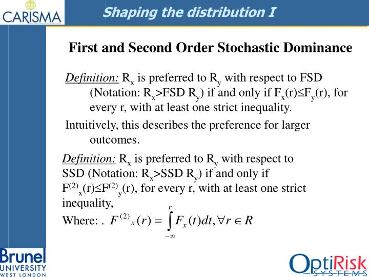 Shaping the distribution I