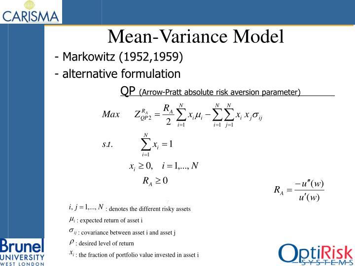Mean-Variance Model
