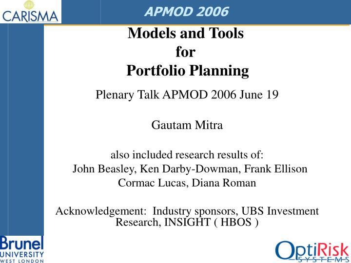 APMOD 2006