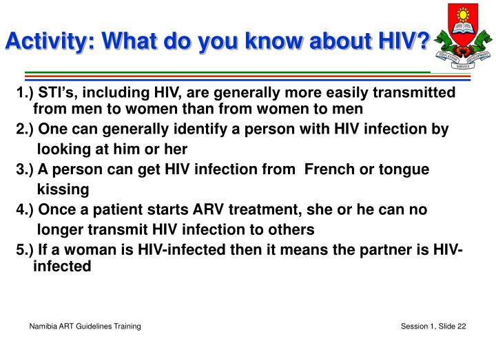 Activity: What do you know about HIV?