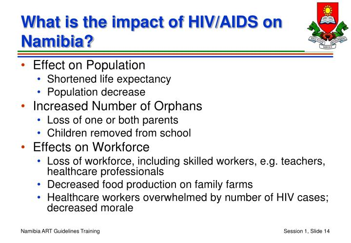 What is the impact of HIV/AIDS on Namibia?