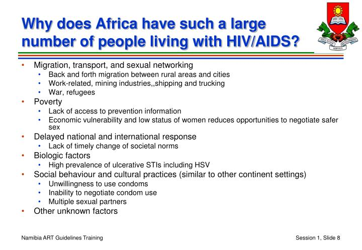 Why does Africa have such a large number of people living with HIV/AIDS?