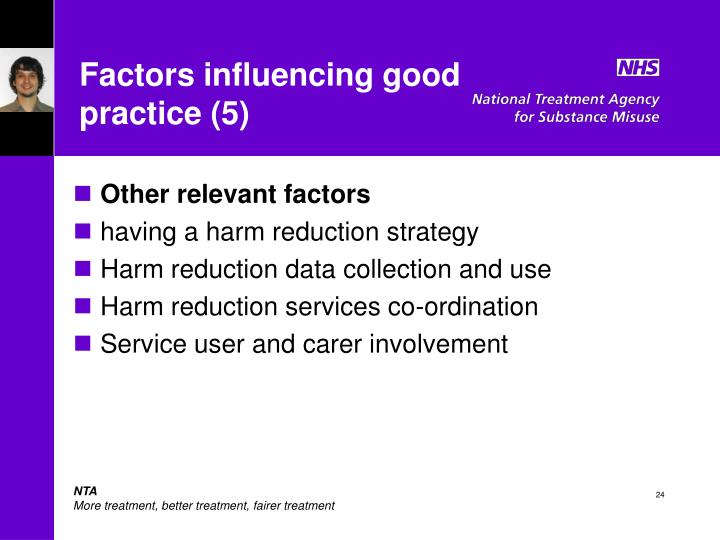 Factors influencing good practice (5)