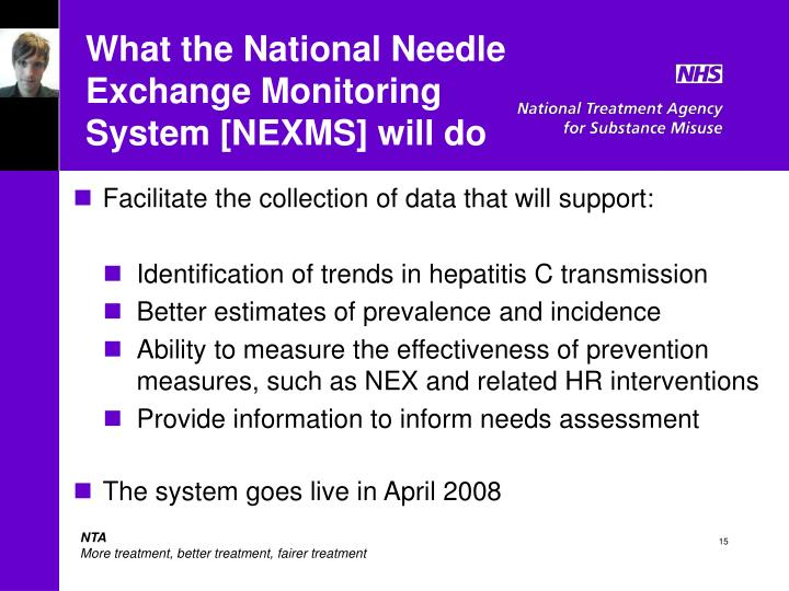 What the National Needle Exchange Monitoring System [NEXMS] will do