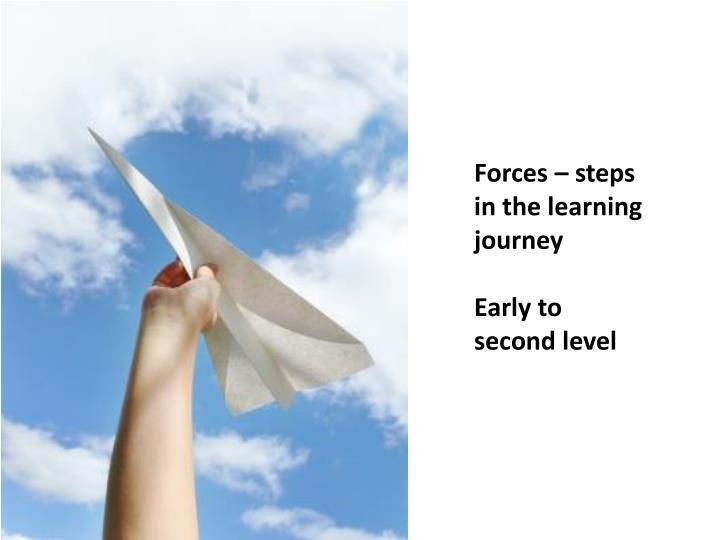 Forces – steps in the learning journey