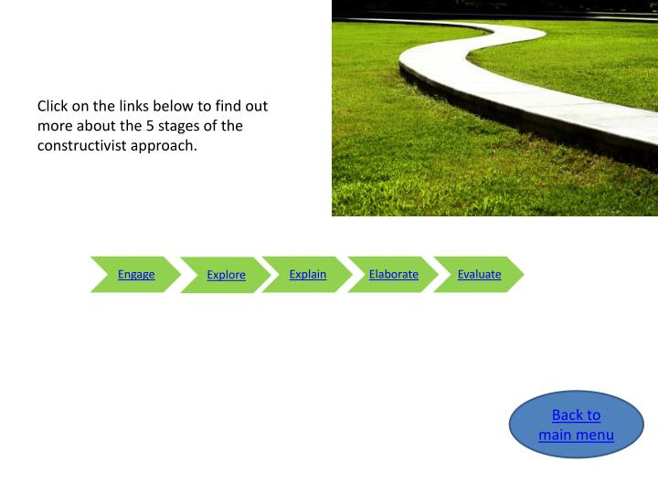 Click on the links below to find out more about the 5 stages of the constructivist approach.