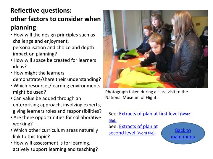 Reflective questions:
