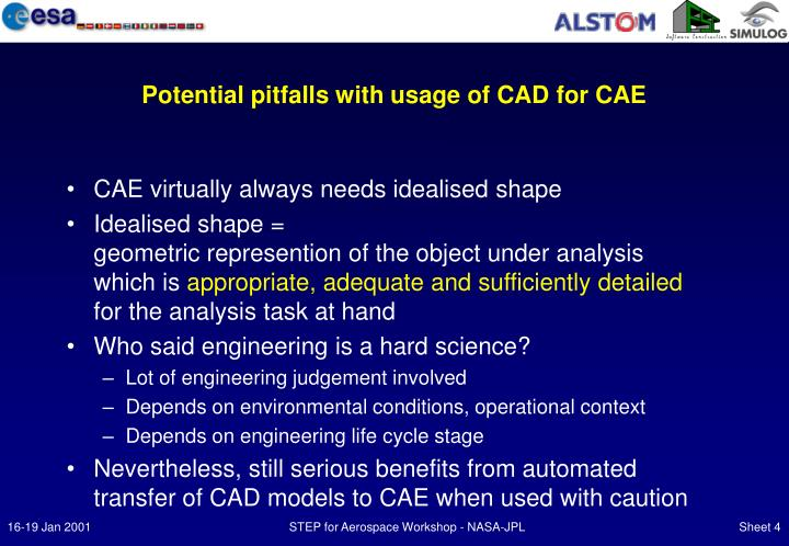 Potential pitfalls with usage of CAD for CAE