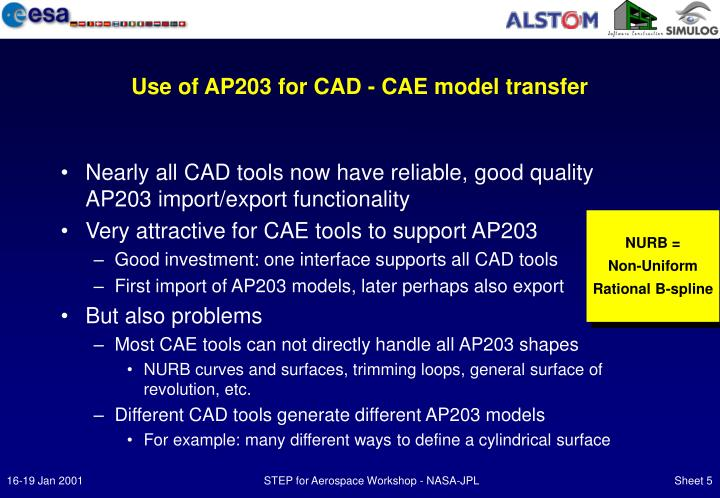 Use of AP203 for CAD - CAE model transfer