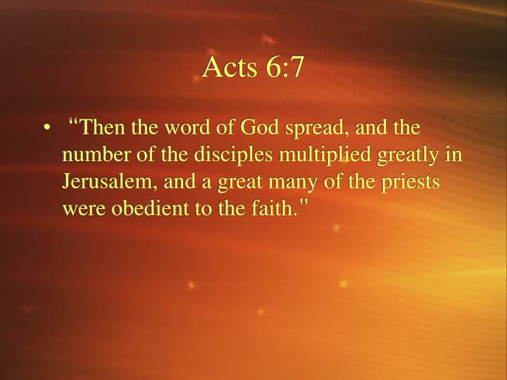Acts 6:7