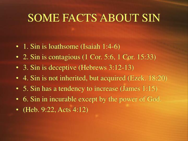 SOME FACTS ABOUT SIN