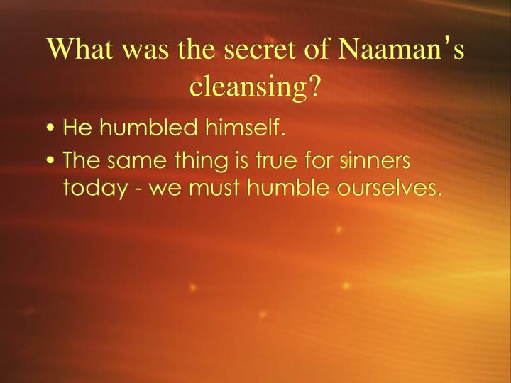 What was the secret of Naaman