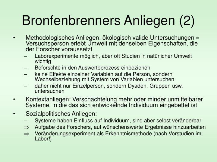 Bronfenbrenners Anliegen (2)