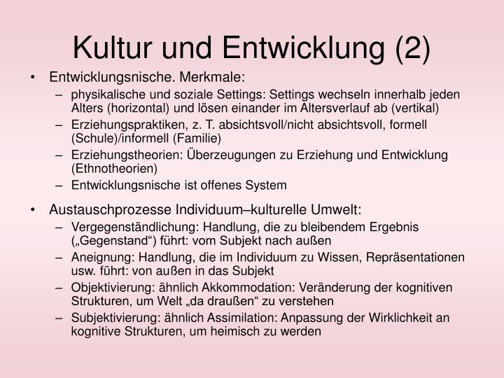 Kultur und Entwicklung (2)