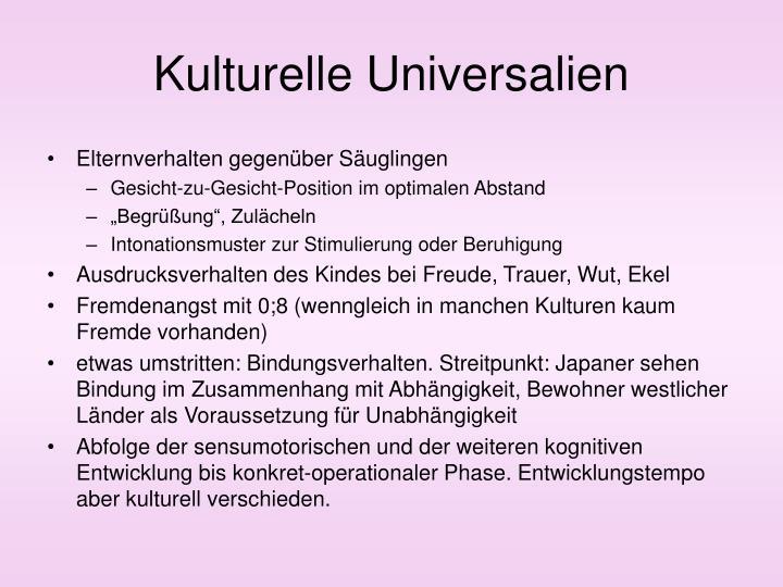 Kulturelle Universalien