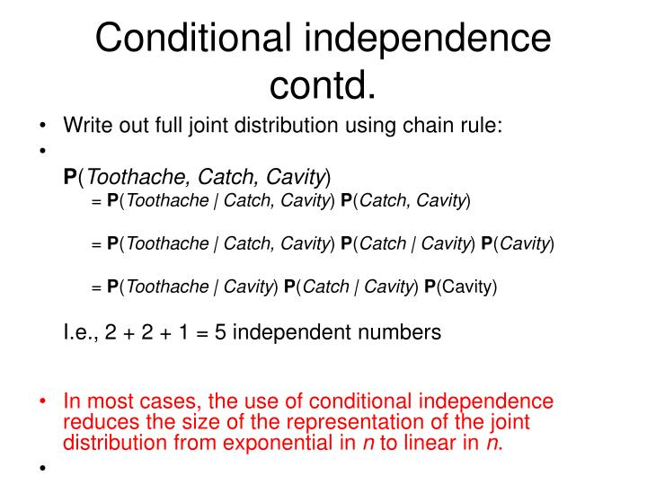 Conditional independence contd.