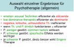 auswahl einzelner ergebnisse f r psychotherapie allgemein