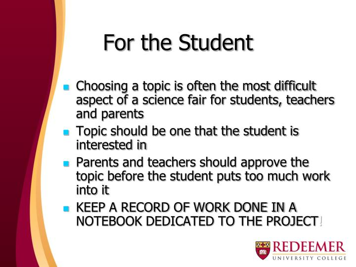 For the Student