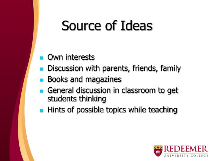 Source of Ideas