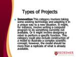 types of projects2