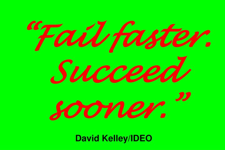 """Fail faster. Succeed sooner."""