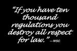 if you have ten thousand regulations you destroy all respect for law wsc