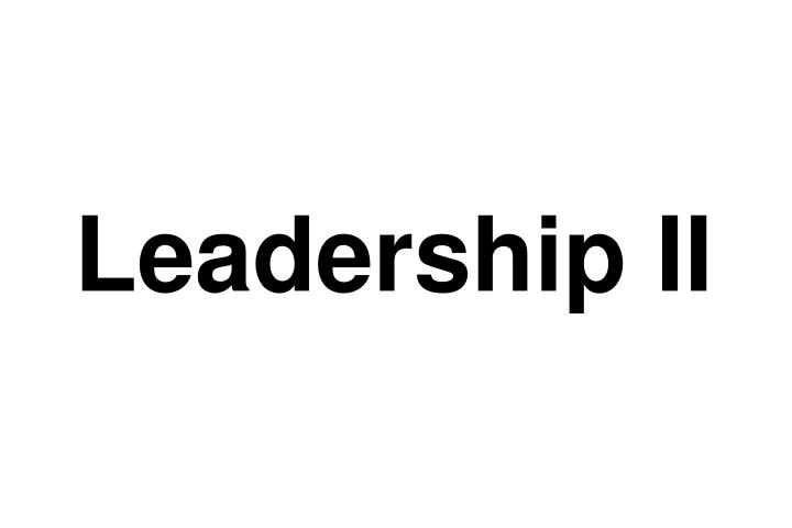Leadership II
