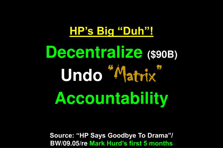 "HP's Big ""Duh""!"
