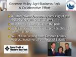 genesee valley agri business park a collaborative effort