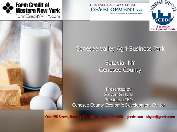 Genesee valley agri business park batavia ny genesee county