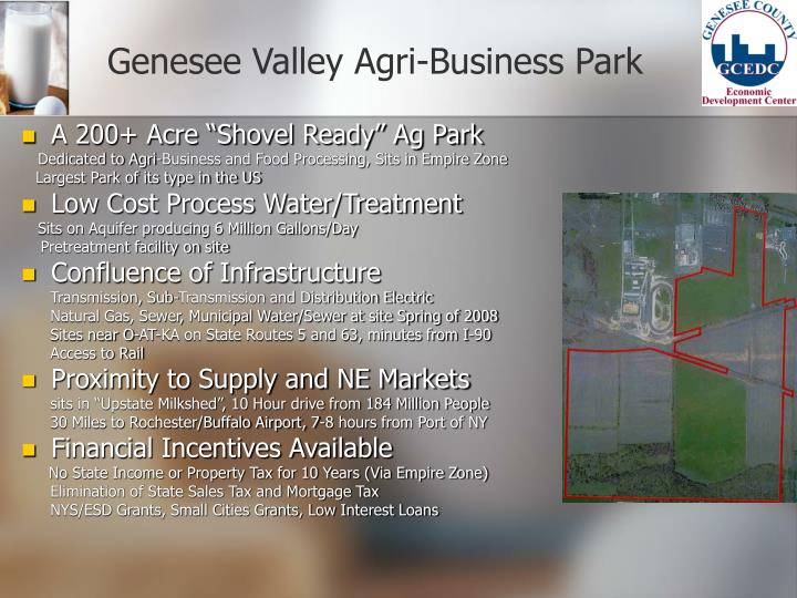 Genesee valley agri business park